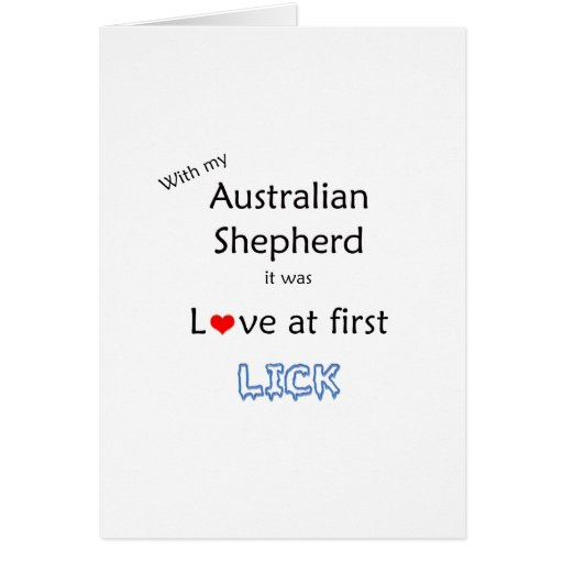 El pastor australiano lame diseño tarjeton