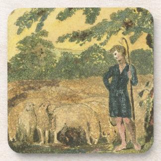 """El pastor, de """"canciones de la inocencia"""", 1789 (c portavasos"""