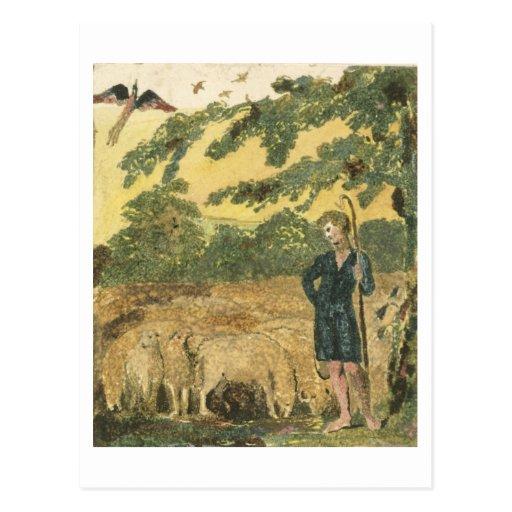 """El pastor, de """"canciones de la inocencia"""", 1789 (c postales"""