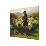 El pastor de la montaña, 1859 impresiones en lona