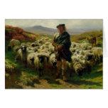 El pastor de la montaña, 1859 tarjeta de felicitación