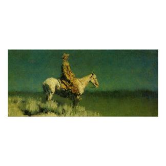 El pastor de la noche de Federico Remington (circa Lona