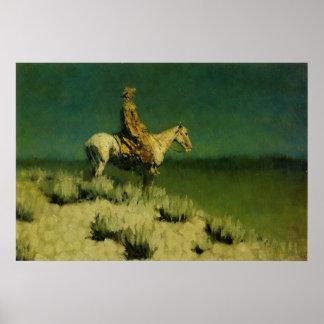 El pastor de la noche de Federico Remington (circa Posters