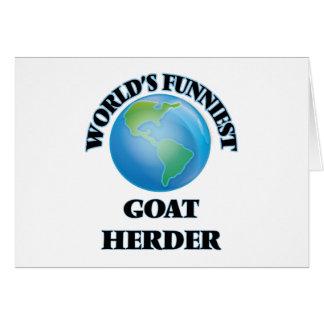 El pastor más divertido de la cabra del mundo felicitación
