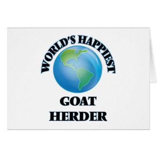 El pastor más feliz de la cabra del mundo tarjeta pequeña