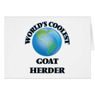 El pastor más fresco de la cabra del mundo tarjeton