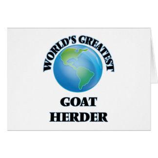 El pastor más grande de la cabra del mundo felicitacion