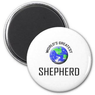 El pastor más grande del mundo imán redondo 5 cm