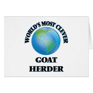 El pastor más listo de la cabra del mundo felicitación