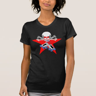El patín o muere con la estrella de la emisión camisetas