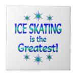 El patinaje de hielo es el más grande teja  ceramica