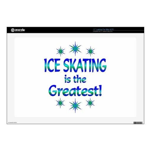 El patinaje de hielo es el más grande portátil calcomanía