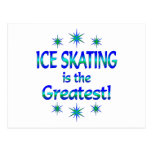 El patinaje de hielo es el más grande postal