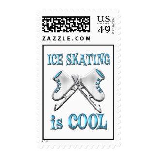 El patinaje de hielo es fresco sello