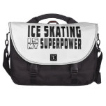 El patinaje de hielo es mi superpotencia bolsas de portatil