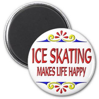 El patinaje de hielo hace vida feliz imán