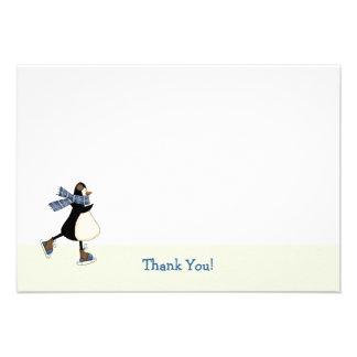 El patinaje de hielo le agradece Notecard