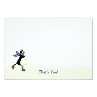 El patinaje de hielo le agradece Notecard Invitación 8,9 X 12,7 Cm