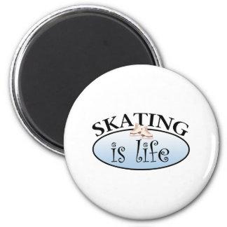 El patinaje es vida imán redondo 5 cm