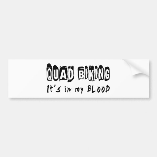 El patio Biking lo está en mi sangre Etiqueta De Parachoque