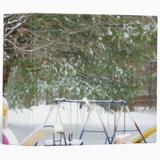 El patio de los niños en la nieve