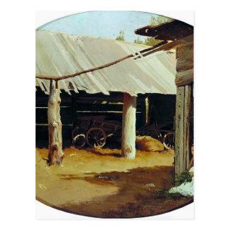 El patio del campesino de Fyodor Vasilyev- Postal
