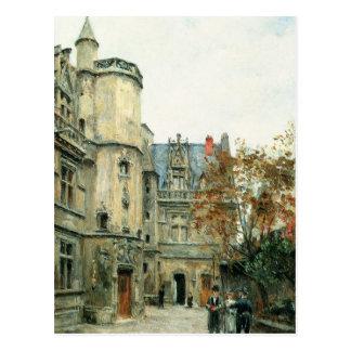 El patio del museo de Cluny c 1878-80 Tarjetas Postales
