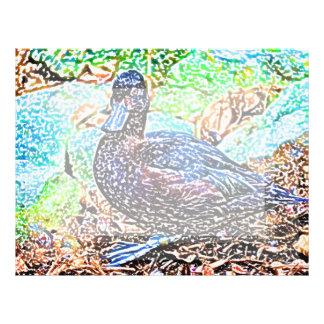 el pato coloreó diseño del pájaro de la mirada del plantillas de membrete