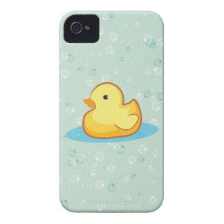 El pato de goma amarillo burbujea caja intrépida d Case-Mate iPhone 4 coberturas