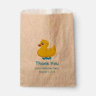 el pato de goma amarillo le agradece bolsa de papel
