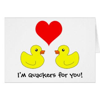 El pato de goma Quackers para usted carda Tarjeta De Felicitación