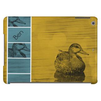 El Pato-Oro y la caja azul del aire del iPad *Pers Funda Para iPad Air