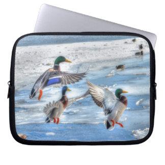 El pato silvestre del vuelo Ducks el regalo de la