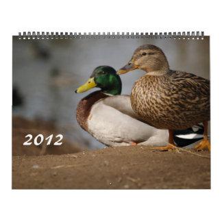 El pato silvestre Ducks el calendario de la