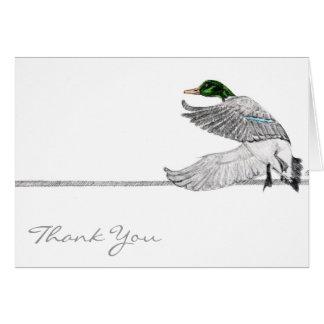El pato silvestre le agradece tarjeta de felicitación
