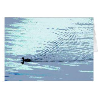 El pato y las ondulaciones le agradecen tarjeta pequeña