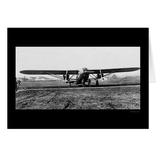 El Patrician, el aeroplano más grande 1929 del Tarjeta De Felicitación