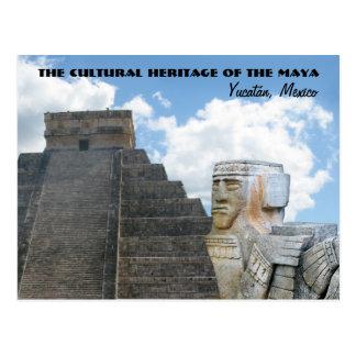 El patrimonio cultural del maya, Yucatán/México Tarjeta Postal