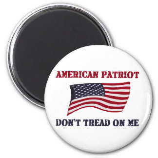 El patriota americano no pisa en mí imán redondo 5 cm