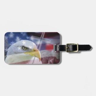 El patriota cristiano etiquetas para equipaje