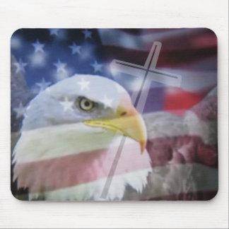 El patriota cristiano mouse pads