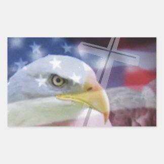 El patriota cristiano rectangular altavoz
