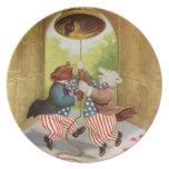 El patriota lleva el anillo Liberty Bell Plato Para Fiesta