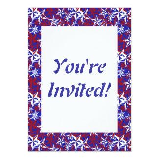 El patriota protagoniza personalizado invitación 12,7 x 17,8 cm