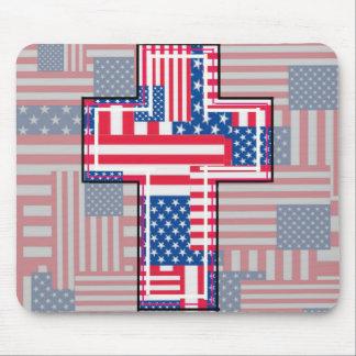 El patriota religioso americano mouse pad