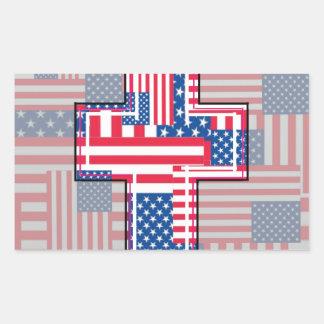 El patriota religioso americano rectangular altavoces