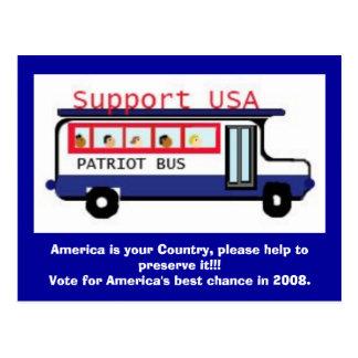el patriotbus, América es su país, por favor hel… Tarjetas Postales