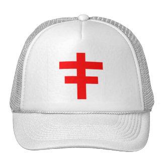 El Pattee cruzado del escocés Knights a Templar Gorros Bordados
