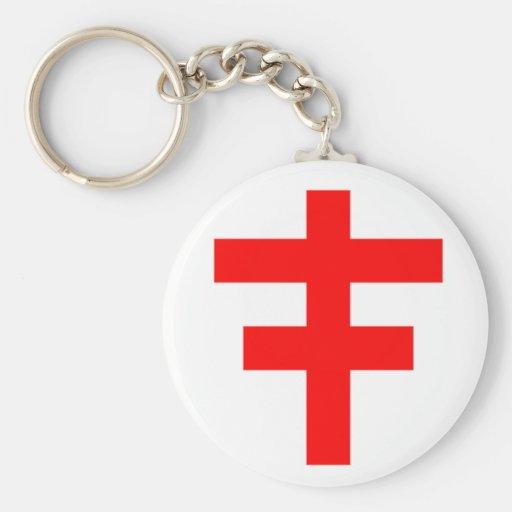 El Pattee cruzado del escocés Knights a Templar Llaveros Personalizados