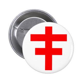 El Pattee cruzado del escocés Knights a Templar Pin Redondo De 2 Pulgadas